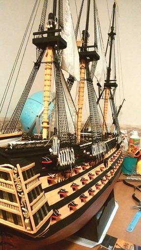 帆船模型ヴィクトリー号 103号分まで完了.jpg