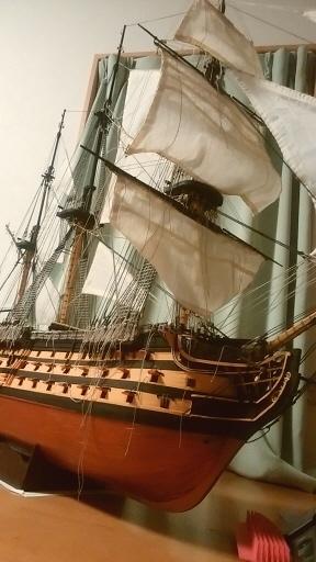 帆船模型ビクトリー 109号まで完了.jpg