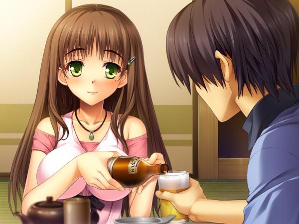 雨芳恋歌 夏恋にビールを注いでもらう.jpg